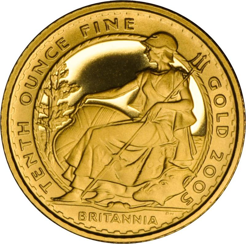 2005 Tenth Ounce Proof Britannia Gold Coin