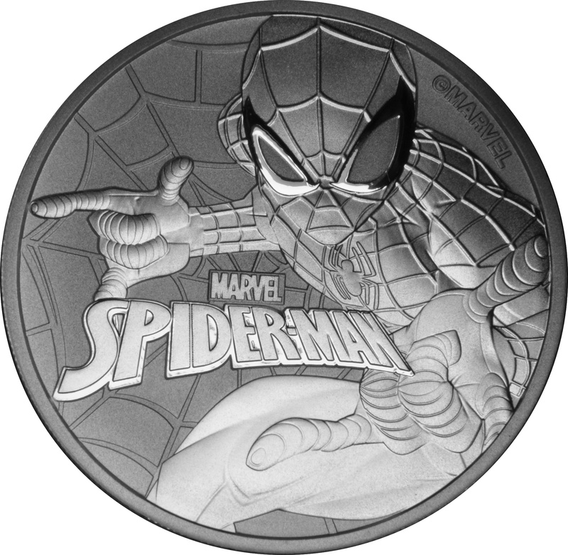 2017 Spiderman 1oz Silver Coin