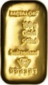 Metalor 100 Gram Gold Bar (Cast)