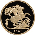 2001 - Gold £5 Proof Coin (Quintuple Sovereign)