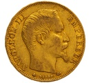 1859 20 French Francs - Napoleon III Bare Head - BB