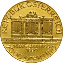 1990 1oz Austrian Gold Philharmonic Coin