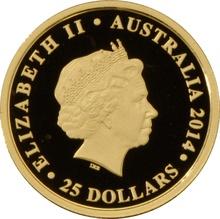 2014 Quarter Ounce Gold Australian Nugget 25th Anniversary
