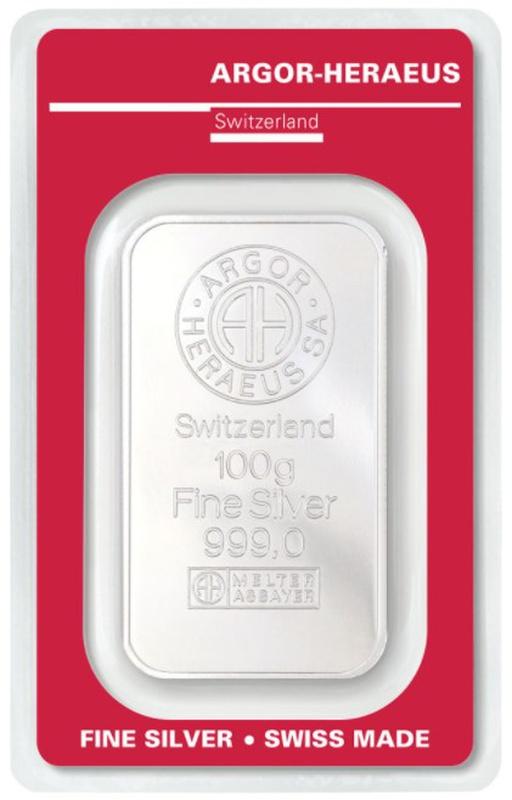 Argor-Heraeus 100 Gram Silver Bar
