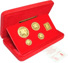 1980 Isle of Man Gold Proof Sovereign Four Coin Set Boxed