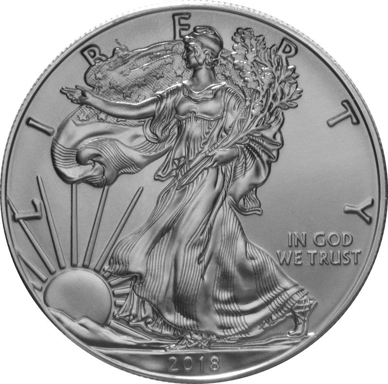 2018 1oz American Eagle Silver Coin