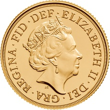 2017 Gold Sovereign Elizabeth II Fifth Head