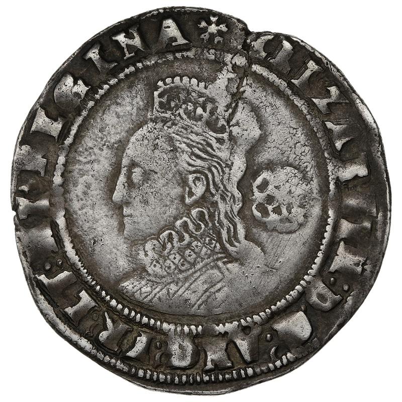 1575 Elizabeth I Silver Sixpence 4th Issue mm Eglantine