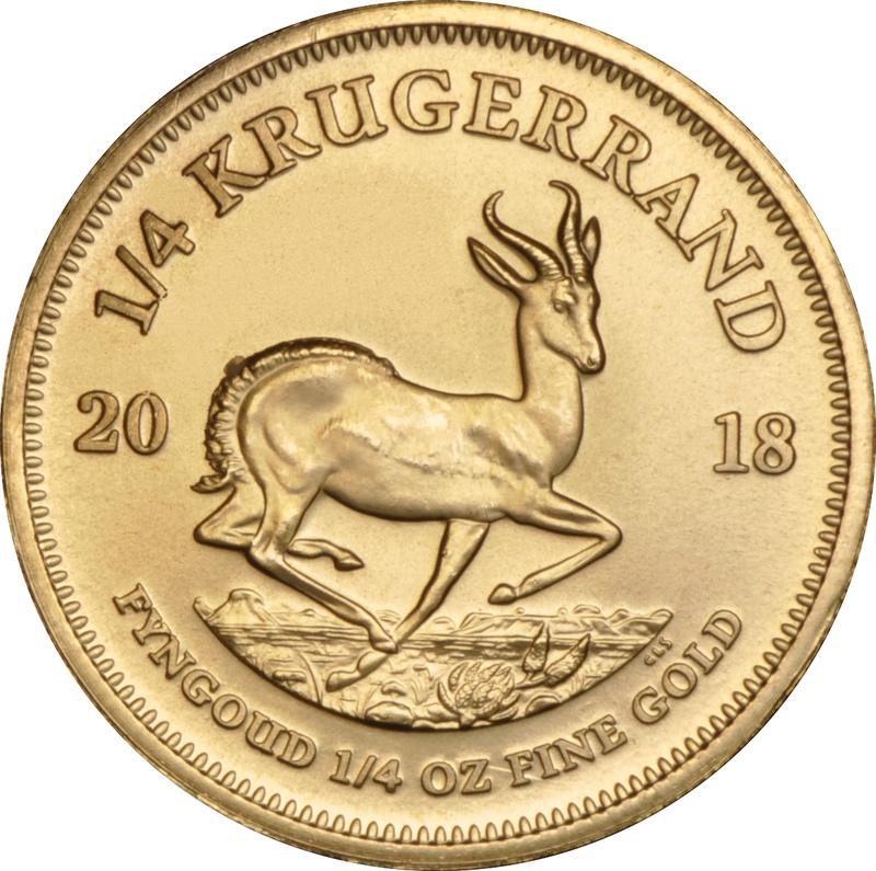 2018 Quarter Ounce Krugerrand Gold Coin