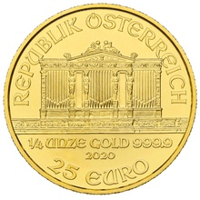 2020 Quarter Ounce Austrian Gold Philharmonic Coin