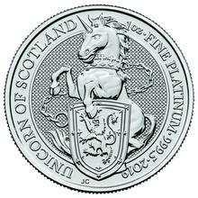 2019 1oz Platinum Coin, The Unicorn - Queen's Beast