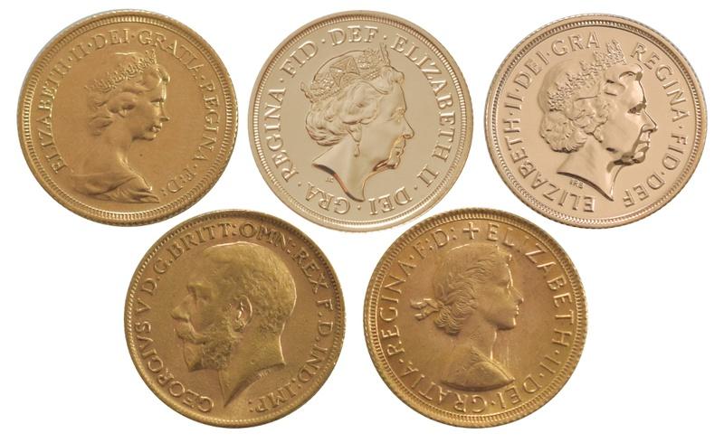 5 Sovereign Portrait Set