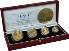 1999 Proof Britannia Gold 4-Coin Set Boxed