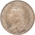 1891 Victoria Jubilee Head Silver Crown - Good Fine