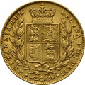 1846 Gold Sovereign - Victoria Young Head Shield Back - London