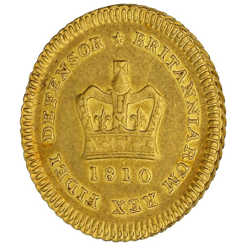 1810 George III  Gold Quarter Guinea