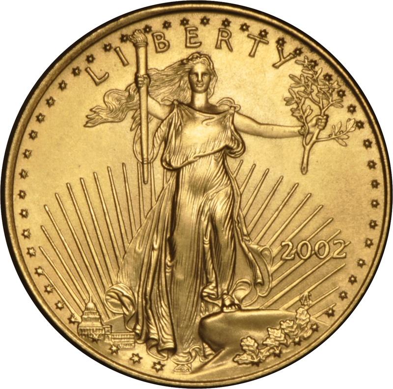 2002 Quarter Ounce Eagle Gold Coin