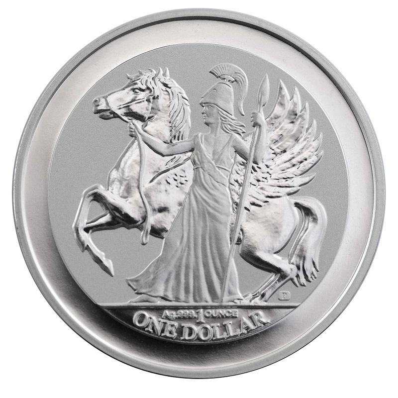 Pegasus 2017 Reverse Proof Silver 1oz Coin