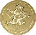 2012 2oz Year of the Dragon Lunar Gold Coin
