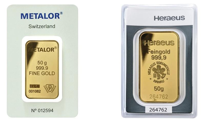 50g Gold Bars Best Value (Brand New)