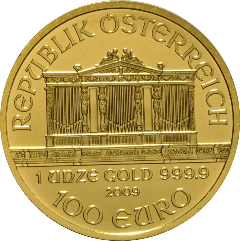 2009 1oz Austrian Gold Philharmonic Coin
