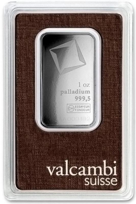 Valcambi 1oz Palladium Bar