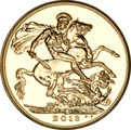 2013 Gold Sovereign - Elizabeth II Fourth Head - India