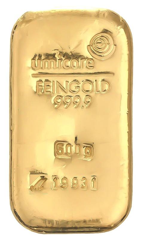 Umicore 500 Gram Gold Bar
