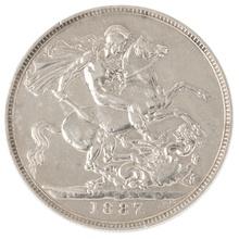 1887 Victoria Jubilee Head Crown - Very Fine