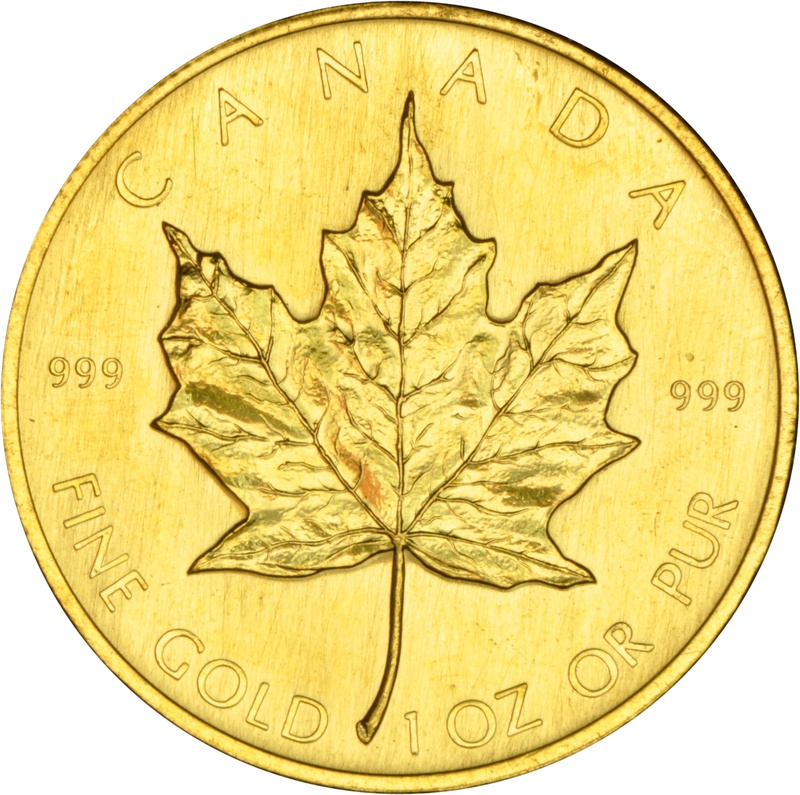 1980 1oz Canadian Maple Gold Coin