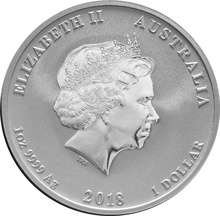 1oz Perth Mint Silver Year of the Dog 2018
