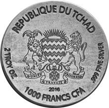 2016 Horus 2-Ounce Silver Coin Boxed