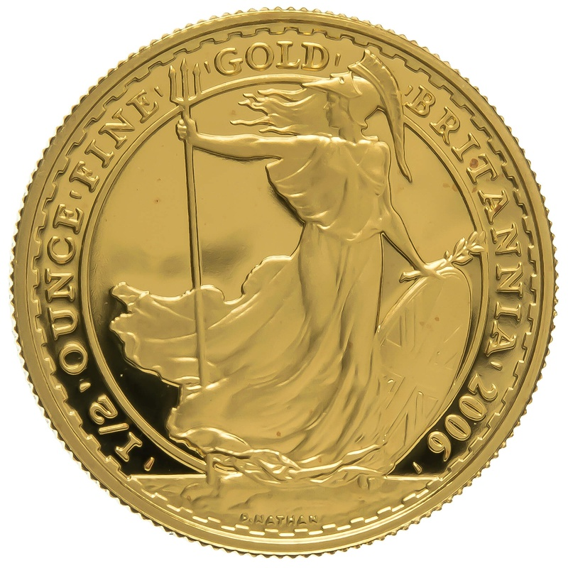 2006 Half Ounce Proof Britannia Gold Coin