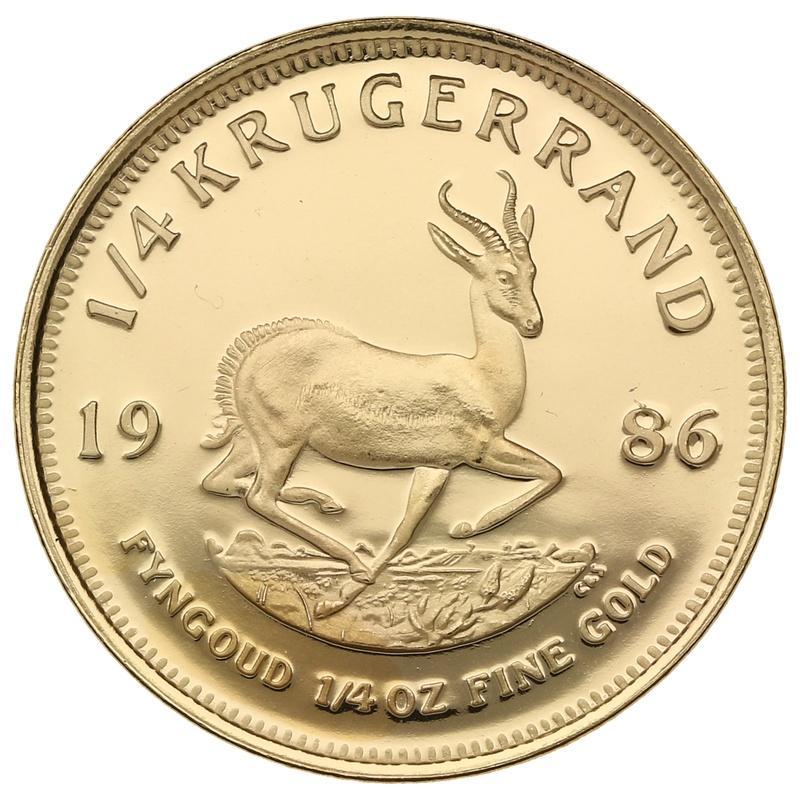 1986 Proof Quarter Ounce Gold Krugerrand
