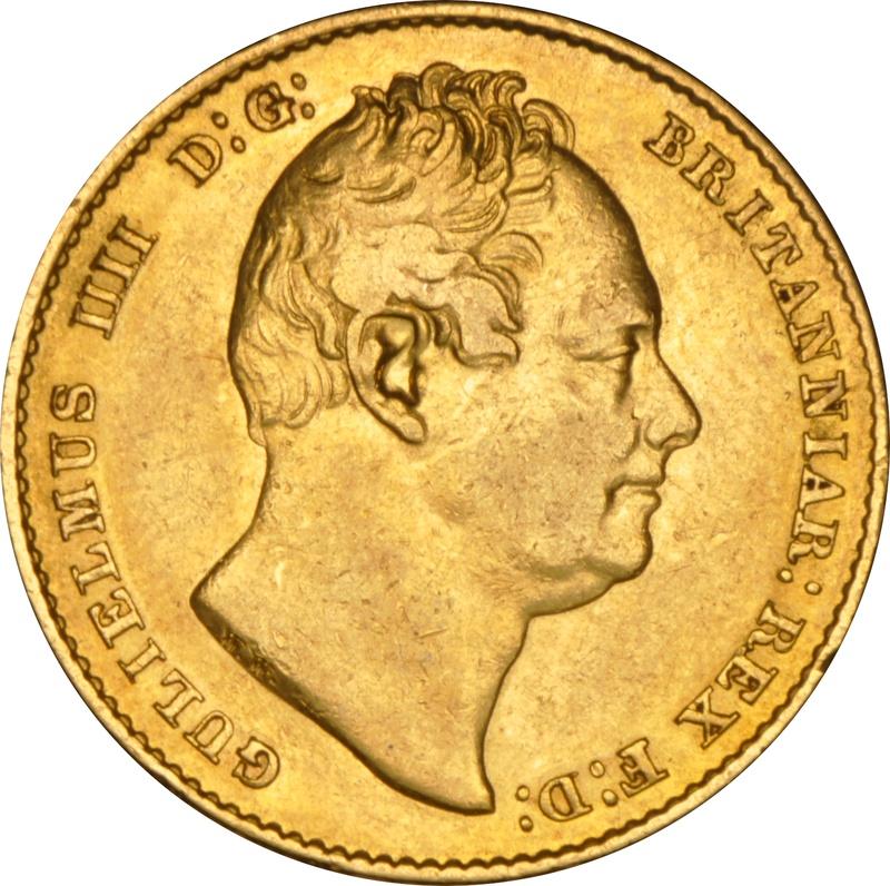 1837 Gold Sovereign - William IV NGC AU50