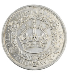 1927 George V Proof Crown (Christmas Crown) - Uncirculated