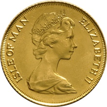 1979 Gold Half Sovereign Elizabeth II Decimal Head Isle of Man
