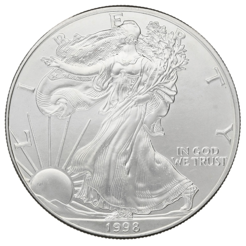1998 1oz American Eagle Silver Coin