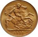 1932 Gold Sovereign - King George V - SA