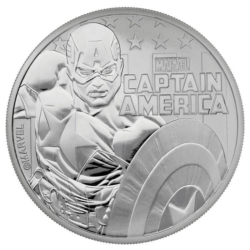 2019 Captain America 1oz Silver Coin