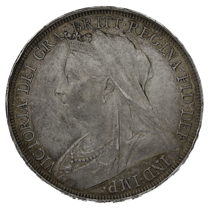 1895 LVIII Queen Victoria Silver Crown