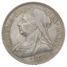 1893 Victoria Silver Half Crown