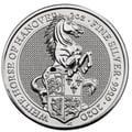 2020 2oz Silver Coin, White Horse of Hanover, Queen's Beast