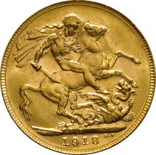 1918 Gold Sovereign - King George V - P