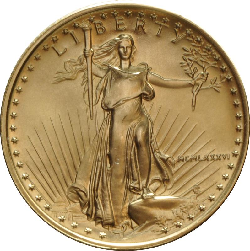 1986 Quarter Ounce Eagle Gold Coin MCMLXXXVI