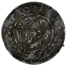 1016-1035 Cnut Hammered Silver Penny Pointed helmet type Canterbury Winedeag