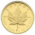 1989 Proof Quarter Ounce Gold Canadian Maple