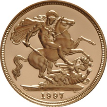 1997 Gold Sovereign - Elizabeth II Third Head Proof