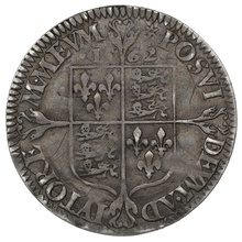 1562 Elizabeth I Silver Sixpence mm Star