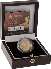 2004 Proof Britannia Tenth Ounce Boxed